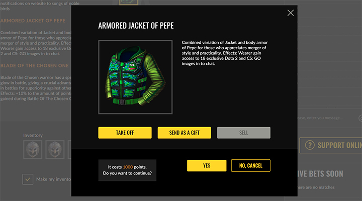 Armored Jacket of Pepe: craft it yourself!
